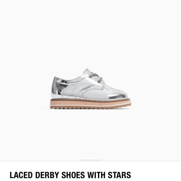 aa997df2bfe Zara Silver Derby shoes for kids. M_5c13da79df03070a23fa38e5
